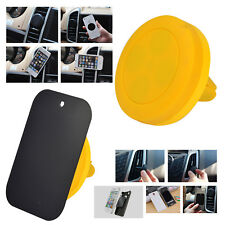 Yellow Magnetic Vent Mount Smartphone Car Holder For HTC U11+ Life Desire 10