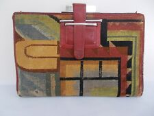 German Avangarde Suprematism Lady's Purse, Bauhaus, Cubist, Embroidery, Early 20
