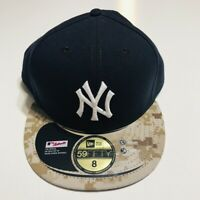 New York Yankees New Era 59Fifty Memorial Day Camo Sz 8 Fitted Cap Hat 2015 NWT