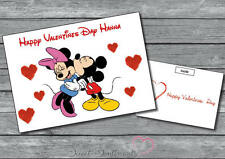 Personalised Cute Minnie And Mickey Valentines Day Card Your Name