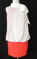 Alberto Makali Dress Scarf Neck Drop Waist Banded Skirt Size M