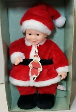 Vintage Anne Geddes Baby Santa Doll 16� Holiday Christmas