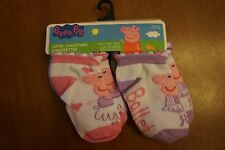 NEW Peppa Pig Toddler Baby Girl Socks 6 Pairs Size 2-4 (shoe size 4-7)
