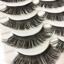 10 PICS Natural Long Eye Lashes Handmade Thick Black False Eyelashes Makeup Sets