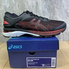 Asics Gel Kayano 25 Black Classic Red Size 9.5 Mens Running Shoes