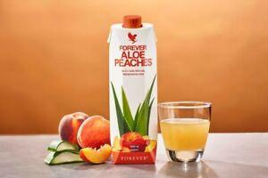 Forever Aloe Peaches™Aloe Vera vereint mit dem süßen Geschmack von Pfirsichen.