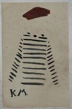 Drawing watercolor signed KAZIMIR MALEVIC