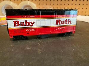 HO Scale Baby Ruth 40' hicube boxcar track cleaner car