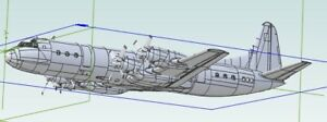 PRE ORDER Lockheed L-188A Electra (3D fabricated 1/48 ABS kit)