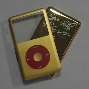 Gold Black iPod classic U2 128GB 256GB front + clickwheel + back cover housing