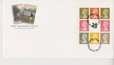 UNADDRESSED GB ROYAL MAIL FDC COVER 1995 PRESTIGE PANE NATIONAL TRUST TRURO PMK