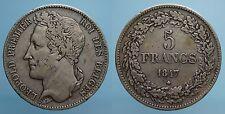 BELGIO 5 FRANCHI 1847 LEOPOLDO I qBB