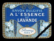 Vintage French Soap Perfume Label 1900 Antique Essence Lavande Savon Dulcifie