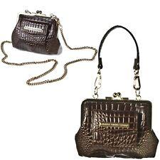 Mini Clasp Coin Purse Clutch Handbag Patent Vintage Style Shoulder Bag Chain