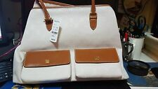 Brand New Brooks Brothers Womens Purse White/Tan