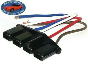 62-70 GM GMC Engine Alternator Voltage Regulator Wiring Harness Plug Pigtail D12