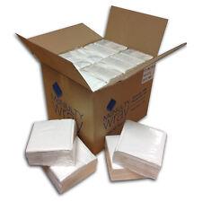 4000 x White Paper Napkins/Serviettes 2 Ply 40x40cm £11.35 exVAT per 1000