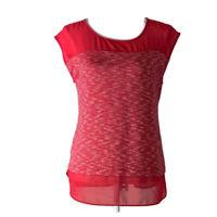 Ann Taylor Womens Top Scoop Neck Sleeveless Blouse Shirt Pink Ladies Size Medium