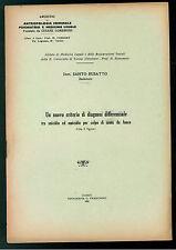 BUSATTO SANTO CRITERIO DIAGNOSI DIFFERENZIALE SUICIDIO ARMA DA FUOCO 1935
