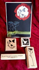 Stampin Up OF THE EARTH set 4 stamps bird butterfly flower words