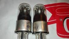 2PCS 6N8S / 1578 / 6SN7 MELZ TUBES! METAL BASE! RARE 1956