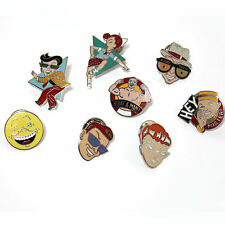 Collection of 8 Easy Aces Lapel pins by Lou Brooks