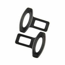 2PCS Universal  Auto Car Safety Seat Belt Buckle Alarm Stopper Clip Clamp Black