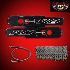 """2004 Yamaha YZF-R6 Swingarm Extensions, 530 Chain, & 36"""" Brake Line, YZF-R6"""