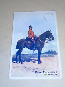 EARLY 1904 GALE & POLDEN MILITARY PC - MOUNTED SOLDIER - ROYAL ENGINEERS