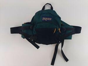 Vintage 90s Jansport Mini Backpack Waist Bag Fanny Pack Green Hiking