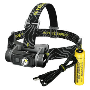 Nitecore HC60 1000 Lumen LED Headlamp - USB Rechargeble with 3400 mAh 18650