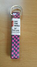 """Vans Off The Wall 36"""" Checkerboard Pink and Black Flat Shoe Laces, Free Shipping"""