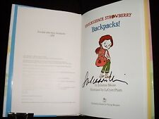 Julianne Moore signed Freckleface Strawberry Backpacks! 1st print hardcover book