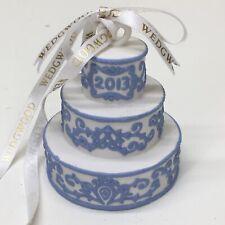 Wedgwood White/Blue Jasperware 2013 Our First Christmas Wedding Cake • Vguc‼