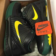 New DS Nike Zoom Kobe IV 4 Rice High School sz 10.5 Black Green White Away HS V