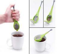 Tee & Gewürz Sieb mit PRESSFUNKTION einfach befüllen Mesh Infuser Filter Kräuter