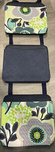 Thirty One Oh Snap Pockets Lot of 3 Fabulous Floral Navy Blue