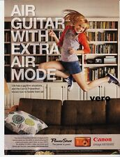 CANON 2010 magazine ad print clipping POWER SHOT camera advertisement air guitar