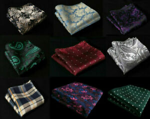 Handkerchiefs Hankies NEW Paisley Polka Floral Checked Silky Suit Pocket Squares