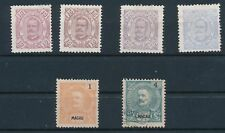 Macau KING CARLOS ISSUES (1894-98) #47-49, #51, #76A & #82; MH & USED
