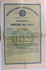 1928 Estonia Insurance Policy EEKS