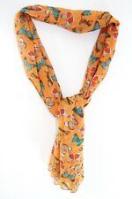 ELEGANT LADIES ORANGE HIPPY OUTDOORS INSPIRED BUTTERFLY PRINT UNIQUE SCARF(MS35)