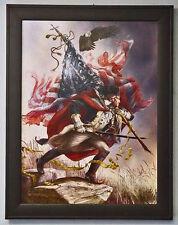 The American Spirit George Washington Independance Day Print Framed