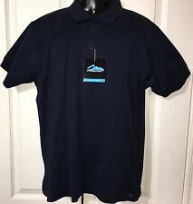 Tri Mountain Women Medium Golf Polo Shirt Navy Short Sleeve Mercerized Cotton