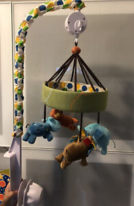 Modern Animal  🦁 🐯🦛 🐘 Colorful Baby 👶 Crib Mobile- Lightly Used- See Pics!