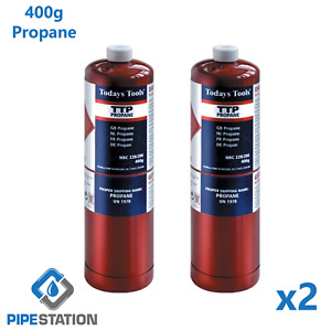 Sale! Propane Soldering Gas Cylinder 453g Disposable Bottle Twinpack Fast Post