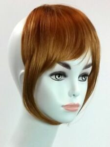 Clip Sur Bang Léger Frange Cheveux Pièce Gris, Auburn, Blonde, Marron, Noir