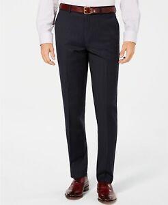 NEW MENS BAR III SLIM FIT WOOL BLEND STRETCH STRIPED DRESS PANTS 34 x 30 $175