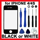 LCD Replacement Glass Front Screen Panel Cover + Tools for Apple iPhone 4S 4G 4