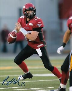 Bo Levi Mitchell Calgary Stampeders CFL autographed signed 8x10 Photograph w/COA